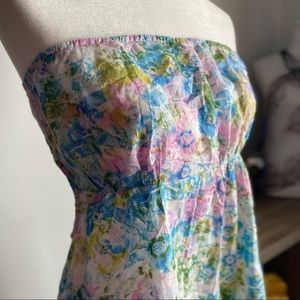 💖 Topshop Strapless Summer Dress Size Medium